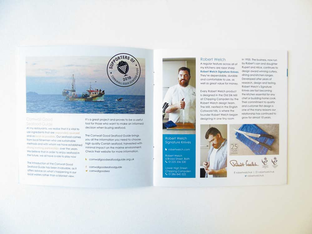 Nathan Outlaw consumer brochure | Salt Media