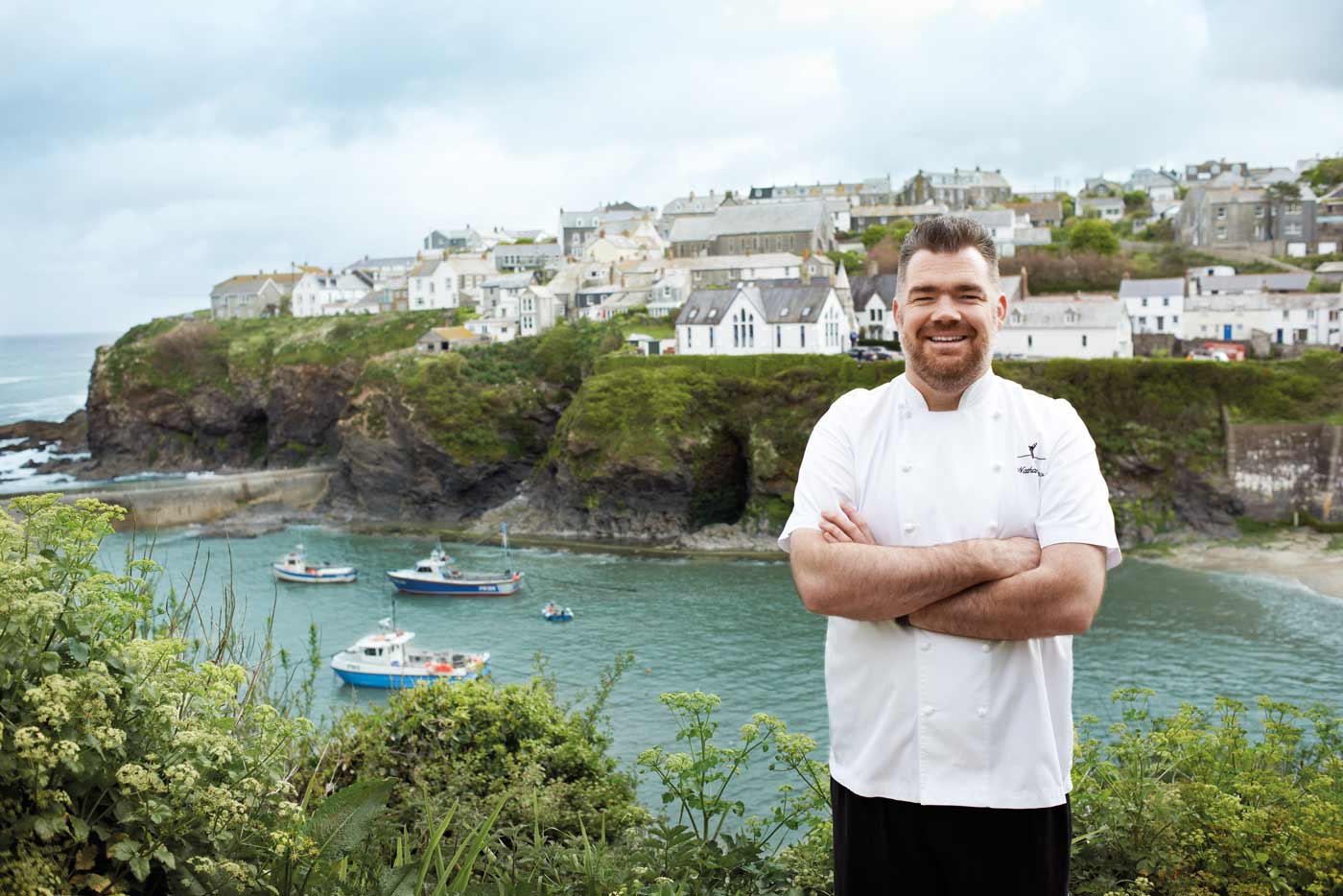 Nathan Outlaw in Port Isaac