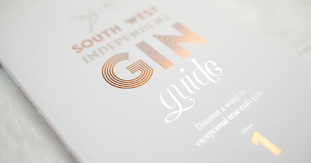 Close up of South West Independent Gin Guide